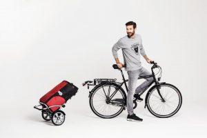 trolly and bike