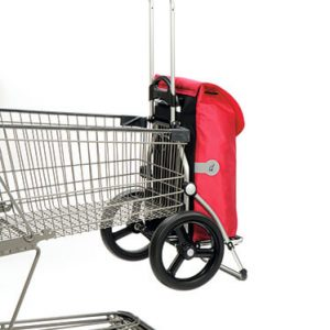 Royal shopping trolley frame attached to shopping cart