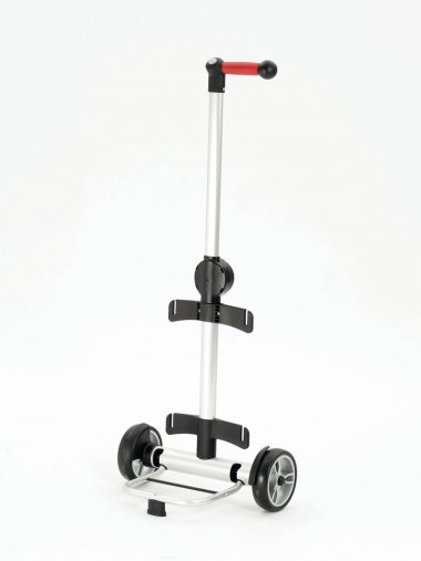 Height adjustable shopping trolley frame
