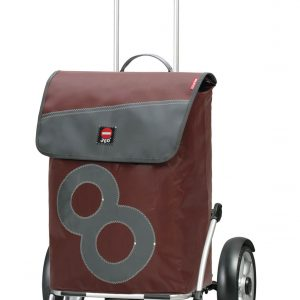 Recycled sail material shopping trolley