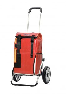 Recycled truck canvas shopping trolley