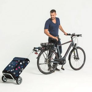 Unus frame shopping trolley attached to bike