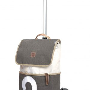 Recycled sail bag shopping trolley