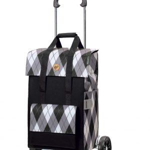 grey shopping trolley bag on wheels