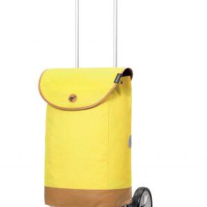 yellow height adjustable trolley
