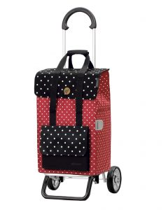 lightweight shopping trolley red