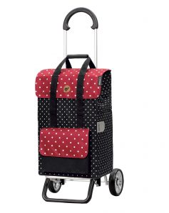 lightweight shopping trolley black