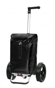 black waterproof bike trolley