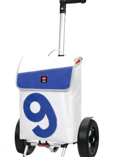 recycled sail bag bike trolley