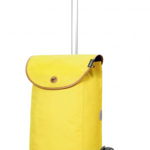 funky yellow shopping trolley