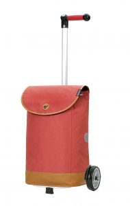 funky red shopping trolley