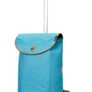 funky blue shopping trolley