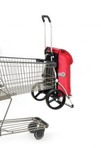 trolley attached to shopping cart