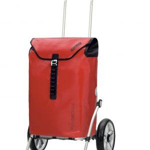 waterproof shopping trolley red