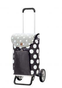 adjustable handle shopping trolley